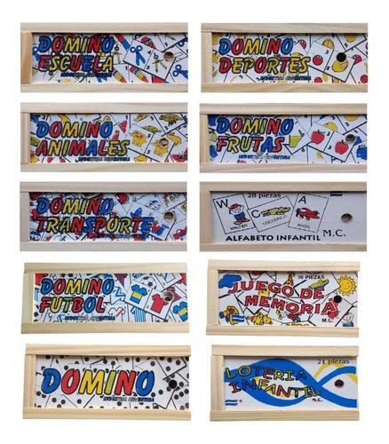 20 Domino De Madera, Juego De La Memoria, Alfabeto Infantil