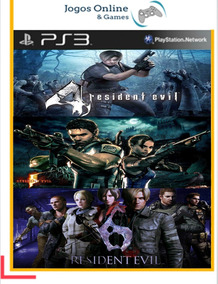 Resident Evil 4 + Re5 + Re6 Mídia Digital Ps3 Ps3 Jogo Cod