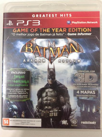 Ps3 Batman - Arkham Asylum E Arkham City (2jogos)