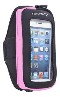 Fitletic Smart Phone Arm Band Con Ventana, Negro / Rosa,.