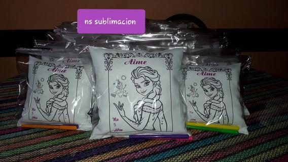 Almohadas Para Pintar Souvenirs 20x20 +2fibras Pack X10