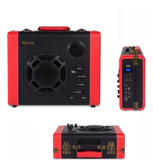 Caixa Som Amplificada Raveo Pulse Bivolt Bluetooth 30w Usb