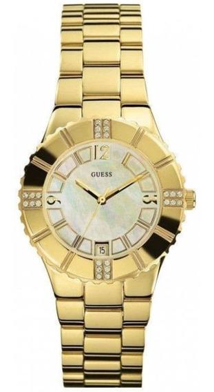 Relógio Guess Feminino Aço Dourado - I11065l1 Original