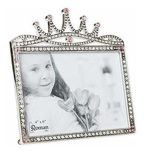 Marco De Fotos Con Diseño De Corona De Princesa, 15,2 X 13,7