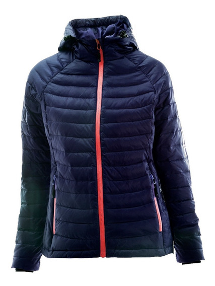 Campera Mujer Pluma Nexxt Performance Sapphire Impermeable