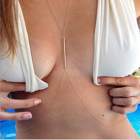 Body Chain Corrente De Corpo Miçangas Sexy Delicada Verão