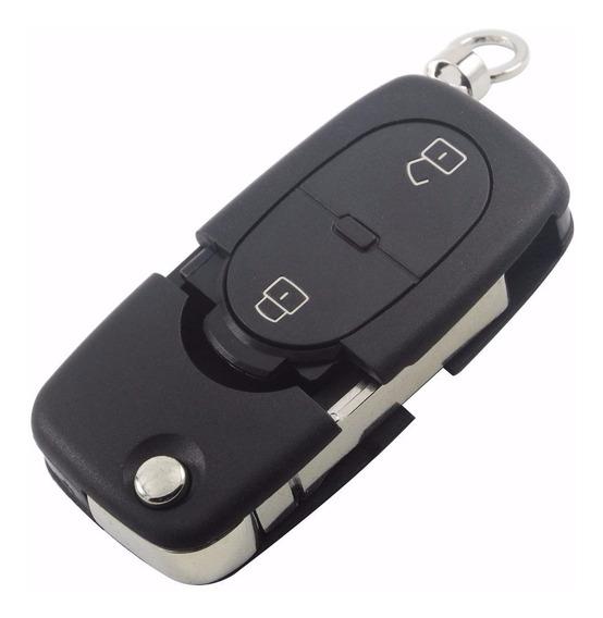 Carcaça Chave Canivete Audi 2 Botões Audi Tt, A2, A3, A4, A6