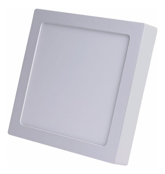 Kit 4 Plafon Luminaria Sobrepor Teto Led Quadrado Spot 12w
