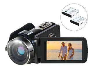 Videocámara Aabeloy 1080p 24mp 2 Baterías Youtube Vlogging