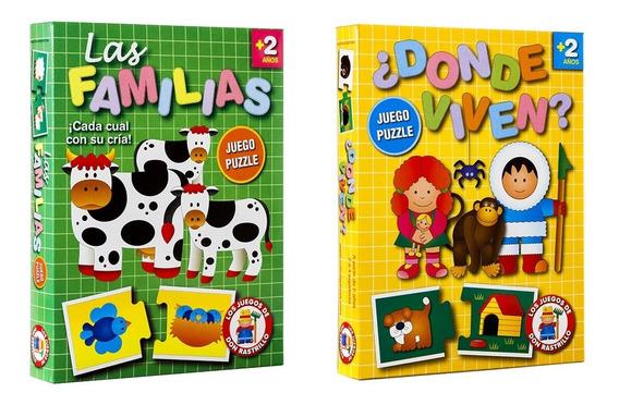 Juego Puzzle Familias Dónde Viven Ruibal Promo 14 (+ 2 Años)