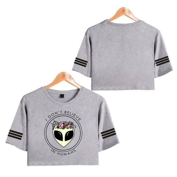 Camiseta Cropped Alien I Don