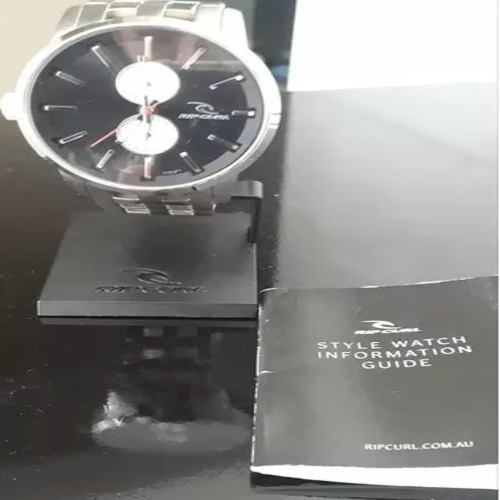 Relógio Rip Curl Detroit D24 Sss Black Aço Inox Frete Grátis