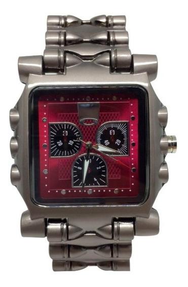 Relógio Oakley Tank Minute Machine - Vermelho