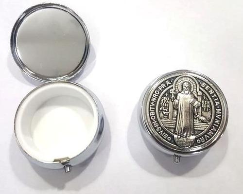 Teca Porta Hóstia Religiosa Eucaristia São Bento Medalha U