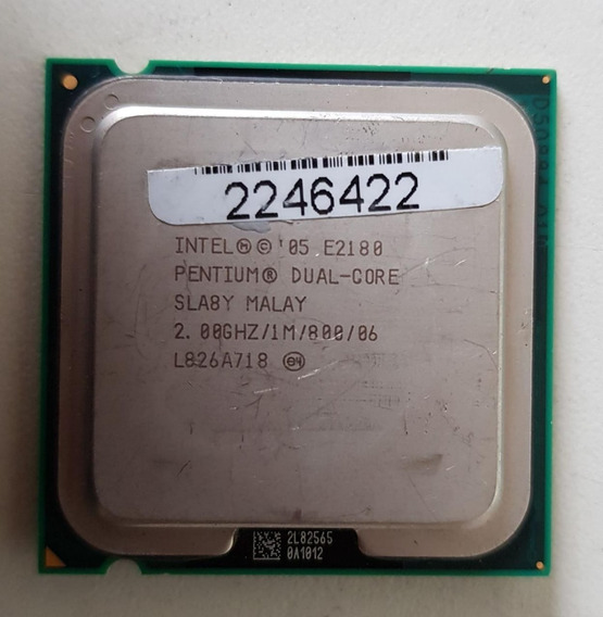 Processador Intel Dual Core E2180 2.00ghz Usada Ref: 01514