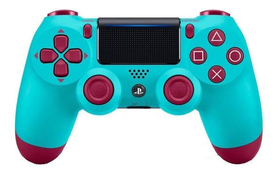 Controle joystick Sony Dualshock 4 berry blue