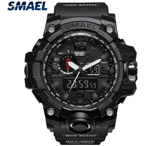 Relógio Smael 1545 Esporte Militar Shock Original Importado