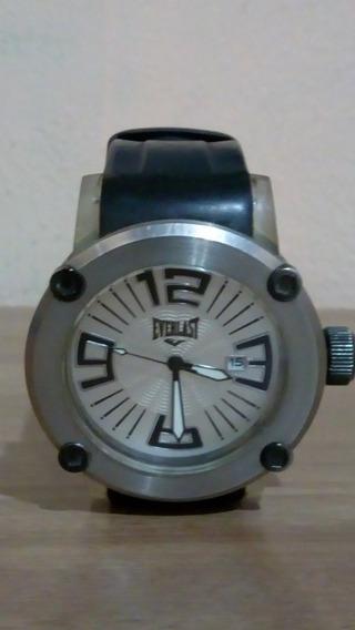 Relógio De Pulso Masculino Everlast Analógico Puls. Silicone