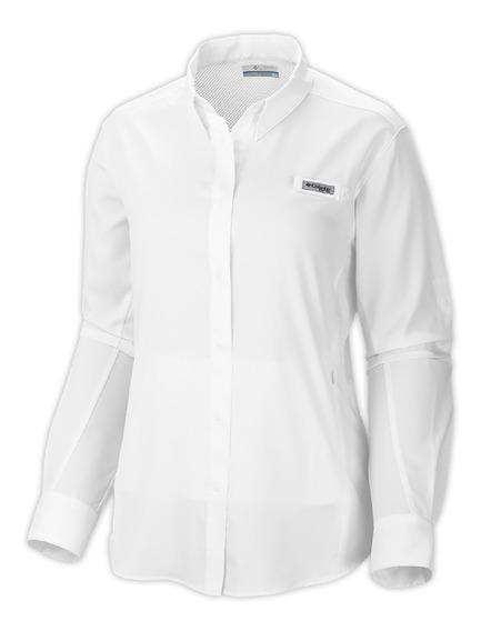 Camisa Columbia Pesca Tamiami Ii Mujer Blanco