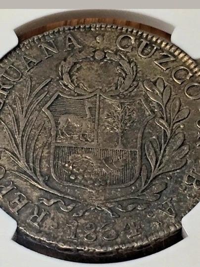 1834 Moeda Do Peru Cuzco, 8 Reales