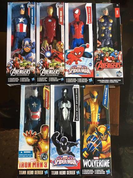 Muñeco Hasbro Advengers Ironman Capitán Spiderman