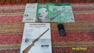Antiguo Folletos Carabina Mahley Batann Super 54