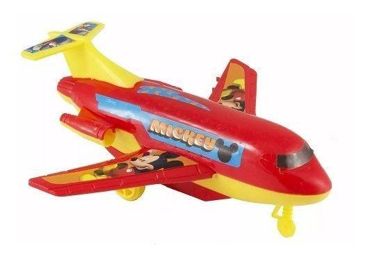 Kit 10 Brinquedo De Fricção Do Mickey Oficial Avião Dy-173