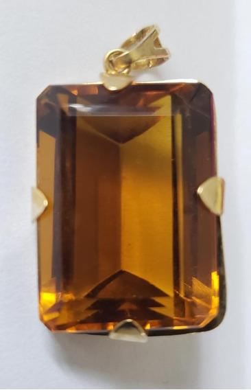 Semi-jóia Pingente De Pedra Natural Topázio Imperial Lindo