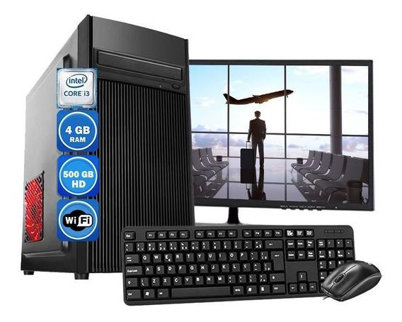 Computador Completo Core I3 2°geração 4gb Hd 500gb Wi-fi