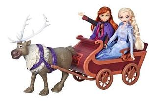 Frozen Muñecas Elsa Y Anna Con Trineo Hasbro E5501 Educando