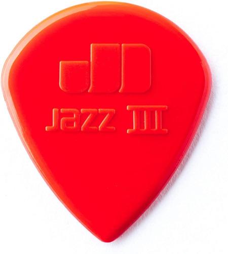 Imagem 1 de 5 de 6 Palhetas Dunlop Jazz I I I ( Jazz 3 ) Made In Usa Vermelha