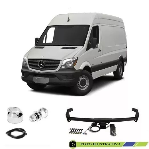 Engate Reboque Mb Sprinter 2014 Curta C/ Estribo