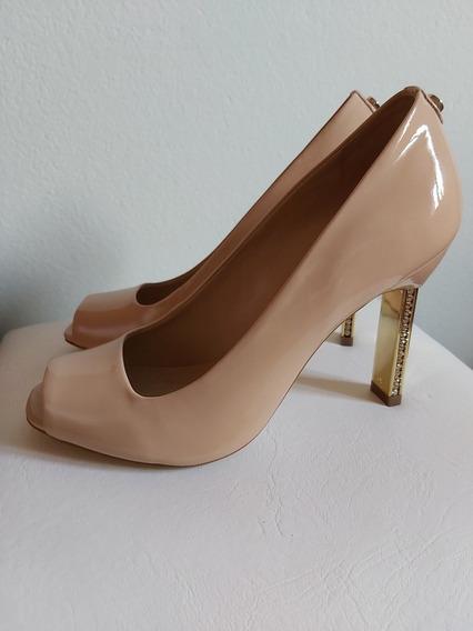 Sapato Peep Toe Nude Jorge Bischoff