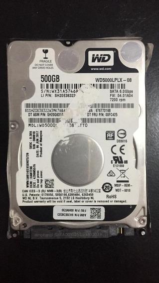 Hd 500gb Wd Black 2,5 7200 Rpm.