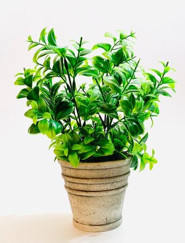Imagen 1 de 4 de Planta Artificial Maceta Con Plantin 28cm Aprox