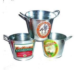 Baldes Cerveza Personalizados Metálicos,12x15 Cm. Valor C/u