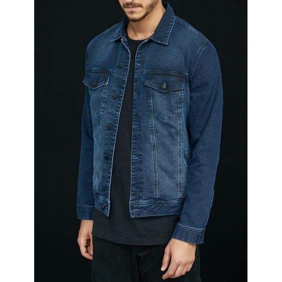 Jaqueta Jeans Moletom Masculina Slim H31gj - Jeans