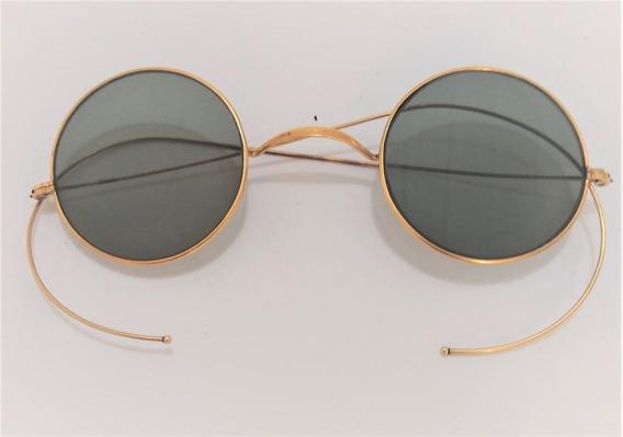 Óculo Anhos 50 Banhados Em Ouro 18 Quilates 750