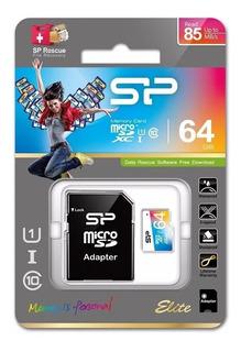 Cartão Micro Sd 64gb Class 10 Silicon Power Elite 85 Mb/s