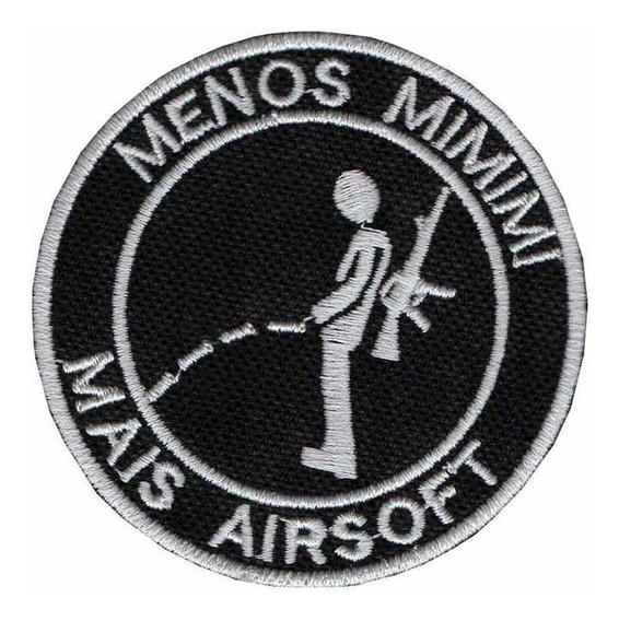 Patch Bordado - Menos Mimimi Mais Airsoft Dv80838-284