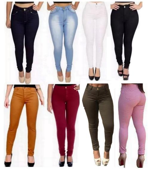 Calça Jeans Cintura Alta Hot Pant Feminina Mulher + Brinde