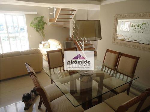 Cobertura Com 4 Dormitórios À Venda, 242 M² Por R$ 1.690.000,00 - Vila Ema - São José Dos Campos/sp - Co0033