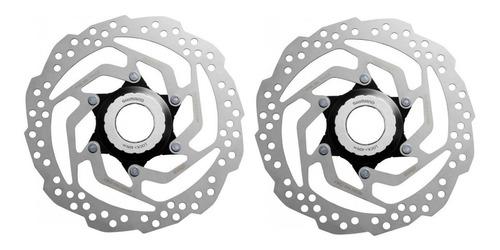 Par Disco Freio Rotor Shimano Rt10 160mm Com Center Lock