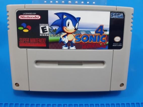 Sonic 4 Snes Cartucho De Super Nintendo