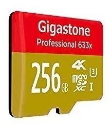Cartão De Memória Micro Sd 256 Gb 4k Gigastone 633x + Brinde