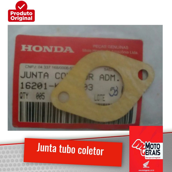 Junta Tubo Coletor Adm. Biz100/pop100-original Honda-98/10
