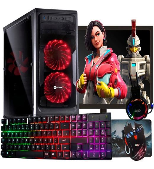 Pc Gamer I5 Completo 8gb - Geforce 2gb / Monitor + Kit Gamer