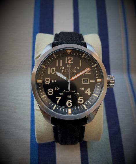 Relógio Citizen Ecodrive Aw5000-24e + Pulseira Nato