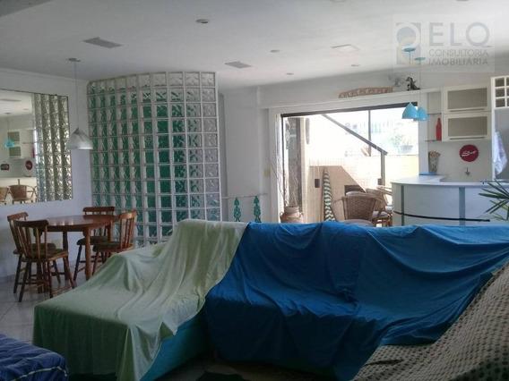 Cobertura Com 3 Dormitórios Para Alugar, 300 M² Por R$ 8.000,00/mês - Pompéia - Santos/sp - Co0057