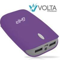 Ghia Volta Bateria De Respaldo Power Bank 7500 Mah Morada Ga